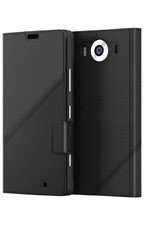 Etui Mozo Thin Flip Cover Czarny do Lumia 950 | OUTLET