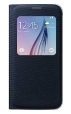 Etui Samsung S View Cover Textil Czarne do Galaxy S6 EF-CG920BBEGWW