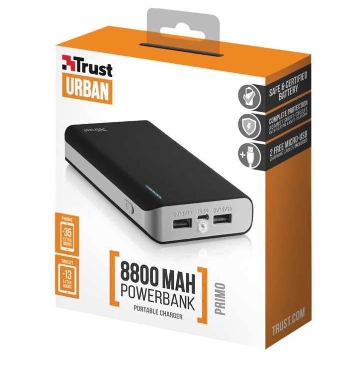 45a0645cb ... Zestaw ZTE Blade A452 Dual SIM Czarny + PowerBank Trust Primo 8800mAh  ...