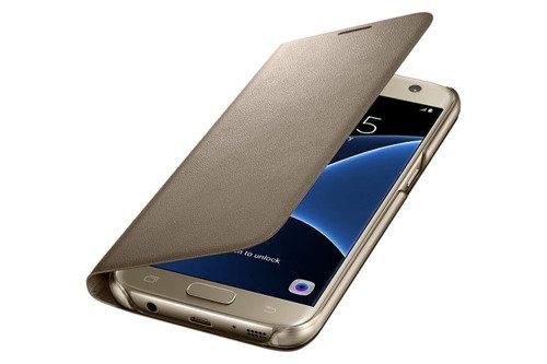 Etui LED View Cower do Samsung Galaxy S7 Złoty EF-NG930PFEGWW