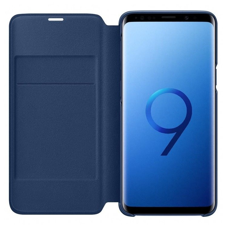 Etui LED View cover do Galaxy S9 Niebieskie (EF-NG960PLEGWW)