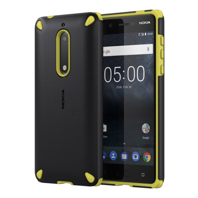 Etui Nokia Rugged Impact Case CC-502 Czarno-Zielone do Nokia 5