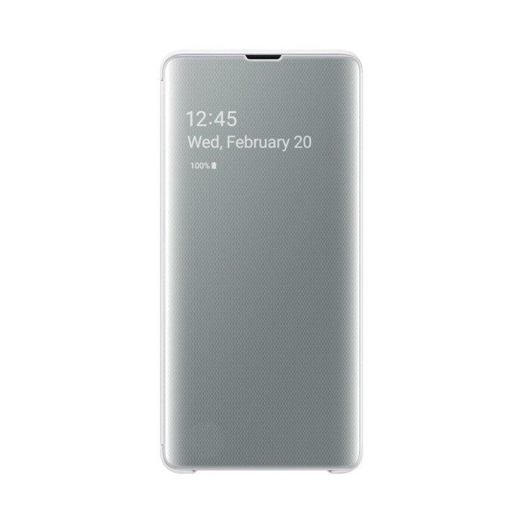 Etui Samsung CLEAR View Cover Biały do Galaxy S10+ (EF-ZG975CWEGWW)