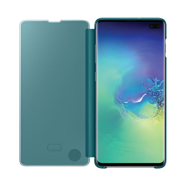 Etui Samsung CLEAR View Cover Zielony do Galaxy S10+ (EF-ZG975CGEGWW)