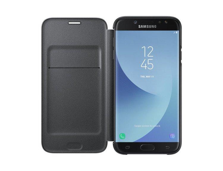 Etui Samsung Wallet Cover Czarne do Galaxy J7 (2017) EF-WJ730CBEGWW