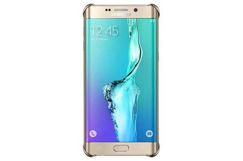 Etui Samsung Glitter Cover Złote do Galaxy S6 edge+ EF-XG928CFEGWW