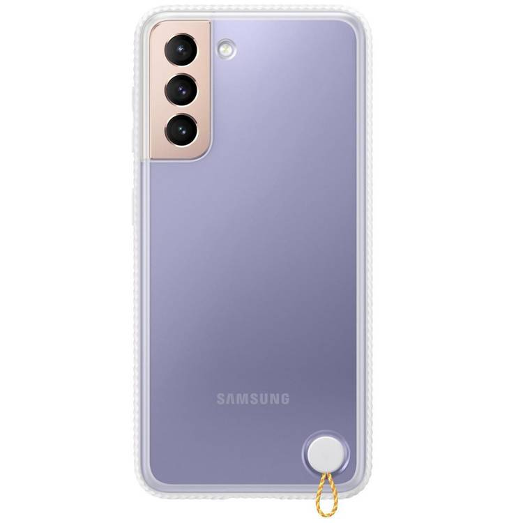Etui Samsung Hard-Cover Clear Protective Białe do Galaxy S21+ (EF-GG996CWEGWW)