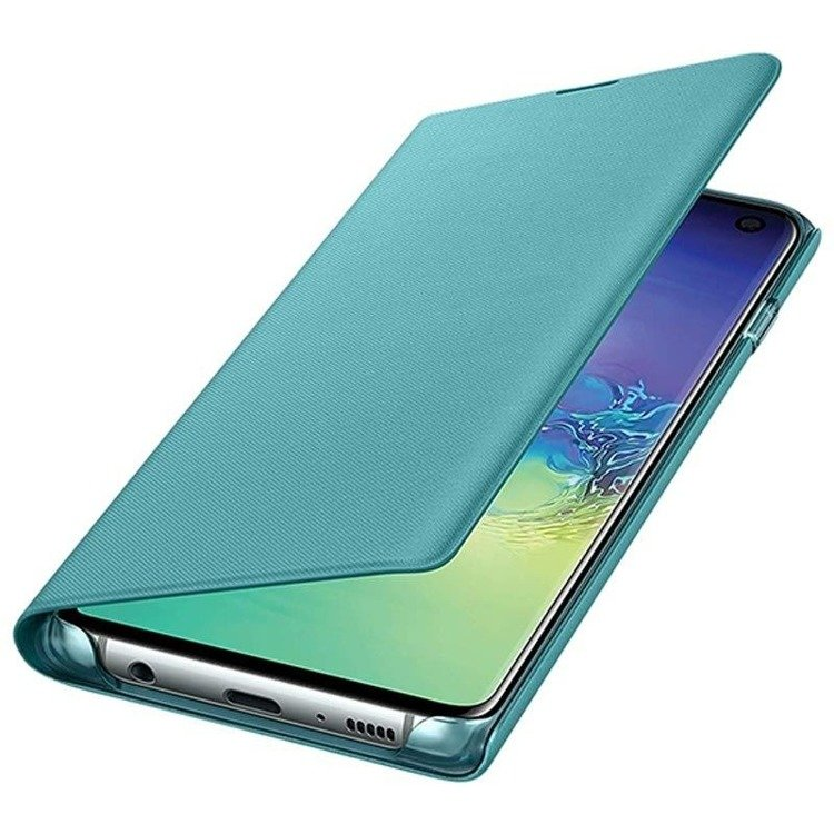 Etui Samsung LED View Cover Zielony do Galaxy S10 (EF-NG973PGEGWW)