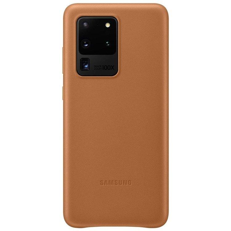 Etui Samsung Leather Cover Brązowe do Galaxy S20 Ultra (EF-VG988LAEGEU)