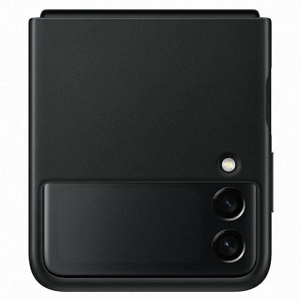Etui Samsung Leather Cover Czarny do Galaxy Z Flip3 5G (EF-VF711LBEGWW)