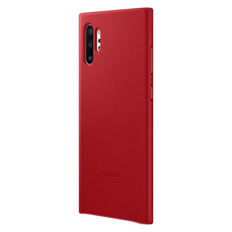 Etui Samsung Leather Cover Czerwone do Galaxy Note 10+ (EF-VN975LREGWW)