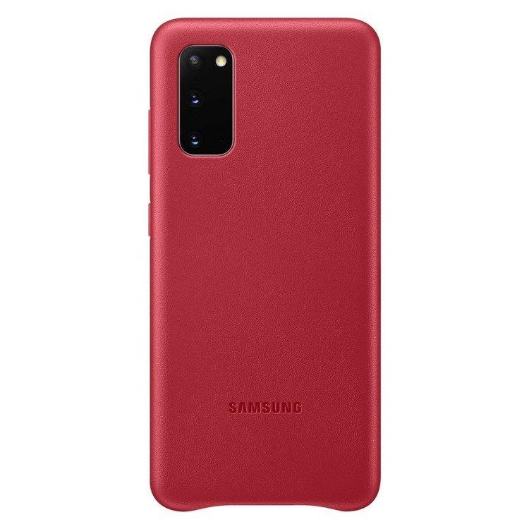 Etui Samsung Leather Cover Czerwone do Galaxy S20 (EF-VG980LREGEU)