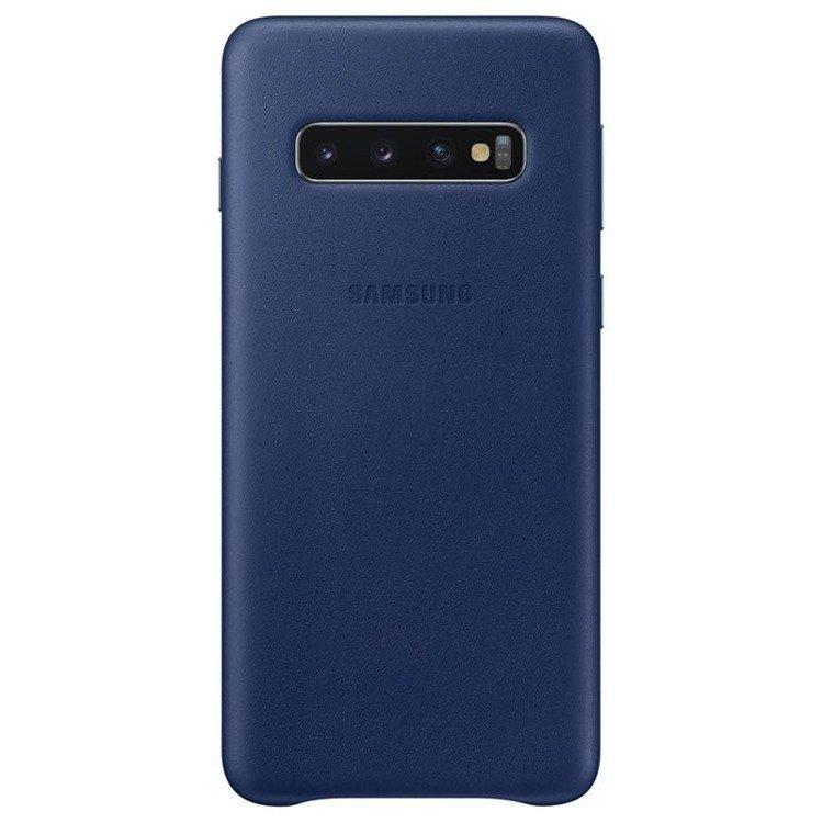 Etui Samsung Leather Cover Granatowy do Galaxy S10 (EF-VG973LNEGWW)