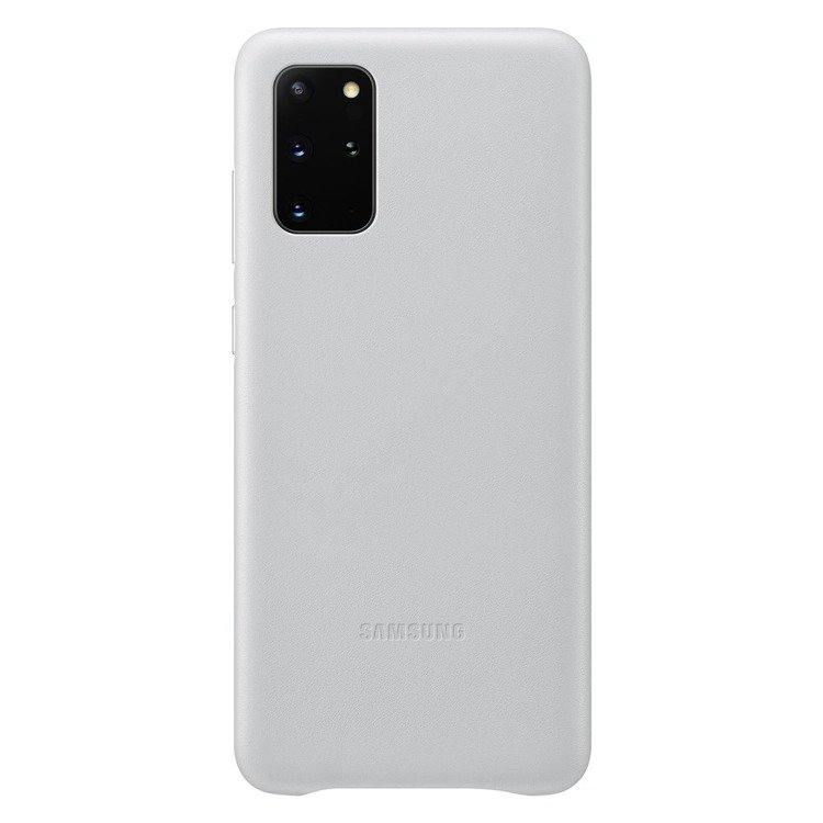 Etui Samsung Leather Cover Jasny Szary do Galaxy S20+ (EF-VG985LSEGEU)