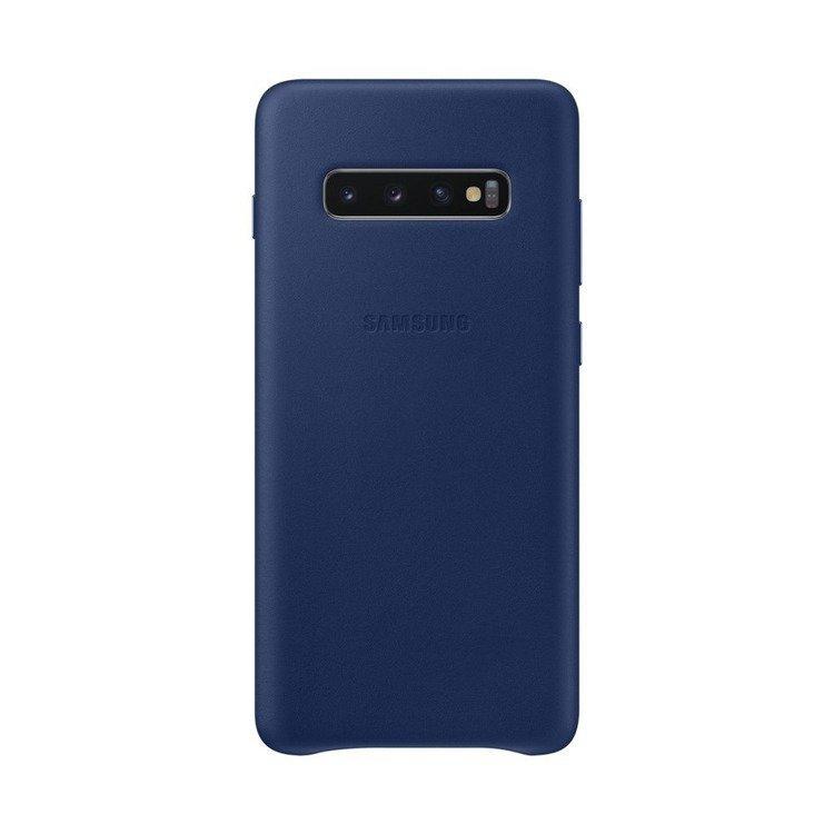 Etui Samsung Leather Cover Niebieski do Galaxy S10+ (EF-VG975LNEGWW) /OUTLET