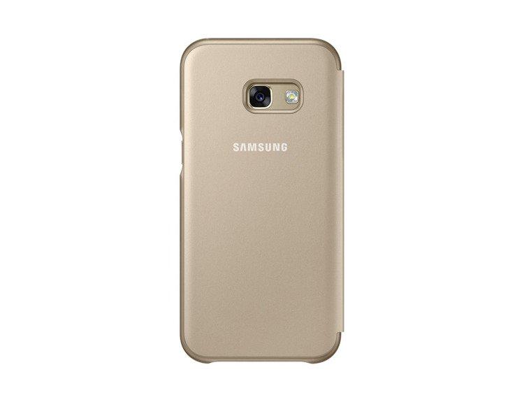 Etui Samsung Neon Flip Cover do Galaxy A3 2017 Złote EF-FA320PFEGWW