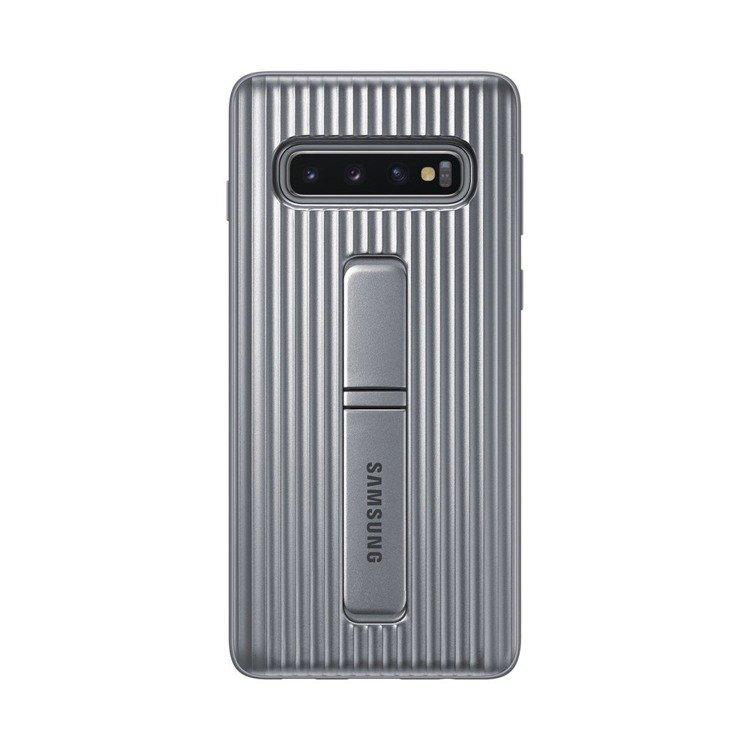 Etui Samsung Protective Standing Cover Srebrny do Galaxy S10 (EF-RG973CSEGWW)