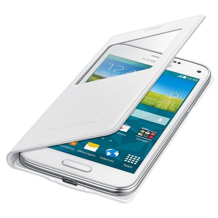 Etui Samsung S View Cover Białe do Galaxy S5 mini EF-CG800BWEGWW