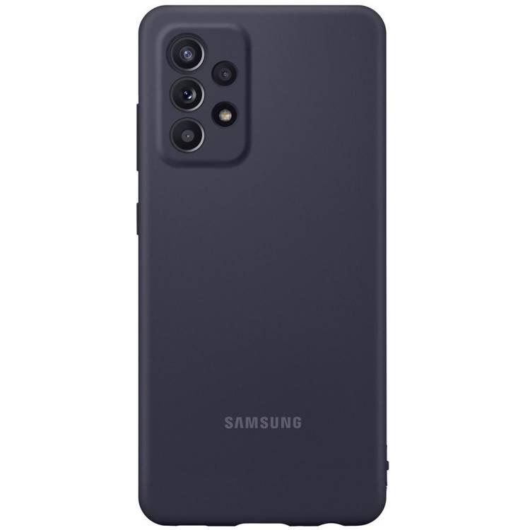 Etui Samsung Silicone Cover Czarny do Galaxy A52 (EF-PA525TBEGWW)