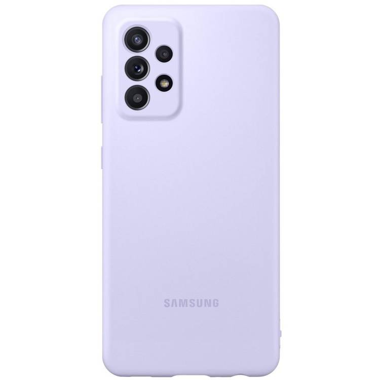 Etui Samsung Silicone Cover Fioletowy do Galaxy A72 (EF-PA725TVEGWW)