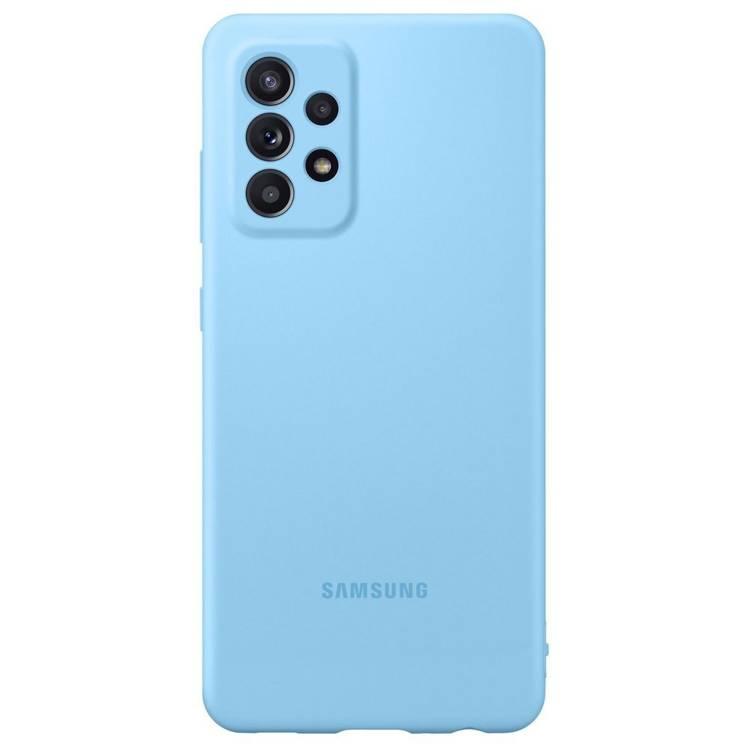 Etui Samsung Silicone Cover Niebieski do Galaxy A72 (EF-PA725TLEGWW)