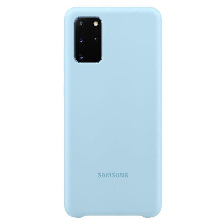 Etui Samsung Silicone Cover Niebieski do Galaxy S20+ (EF-PG985TLEGEU)