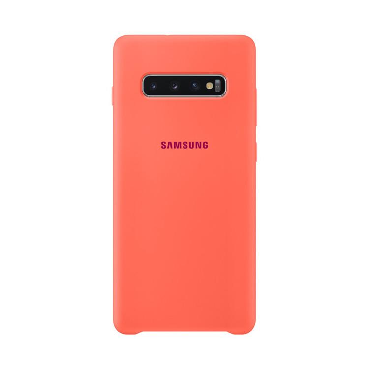 Etui Samsung Silicone Cover Pomarańczowy do Galaxy S10+ (EF-PG975THEGWW)