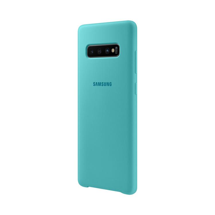 Etui Samsung Silicone Cover Zielony do Galaxy S10+ (EF-PG975TGEGWW)