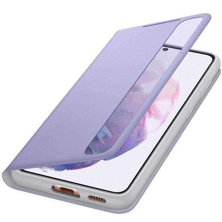 Etui Samsung Smart CLEAR View Cover Fioletowy do Galaxy S21 (EF-ZG991CVEGEW)