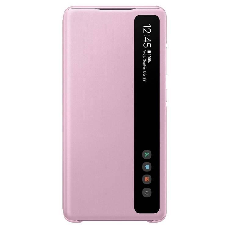 Etui Samsung Smart CLEAR View Cover Różowy do Galaxy S20 FE (EF-ZG780CVEGEE)