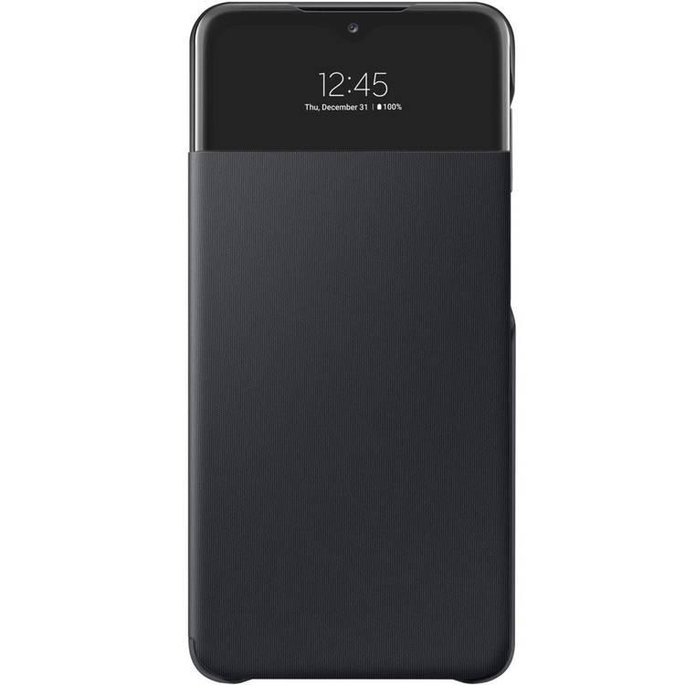 Etui Samsung Smart S View Wallet Cover Czarne do Galaxy A32 (EF-EA325PBEGEE)