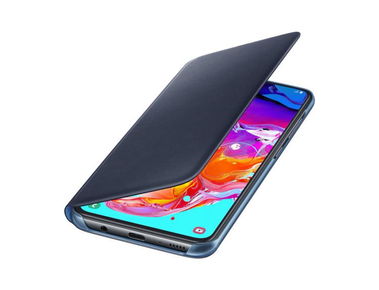 Etui Samsung Wallet Cover Czarne do Galaxy A70 ( EF-WA705PBEGWW)