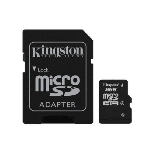 KINGSTON Karta Pamięci microSDHC 8GB + adapter