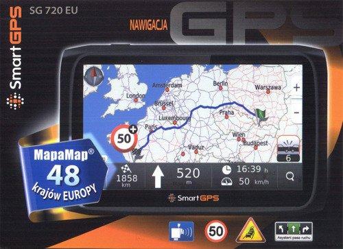 Nawigacja samochodowa SmartGPS SG720 MapaMap EUROPA 48