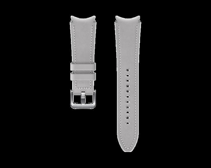 Pasek Samsung Hybrid Leather 20mm S/M Srebrny (ET-SHR88SSEGEU)