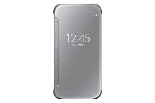 Samsung Etui Clear View Cover Srebrne do Galaxy S6 EF-ZG920BSEGWW