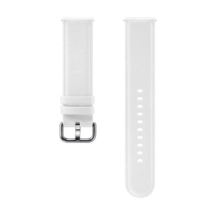 Samsung Pasek Skórzany Biały do Galaxy Watch Active/Active 2 20mm (ET-SLR82MWEGWW)