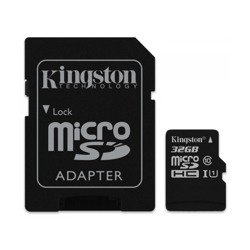 KINGSTON Karta Pamięci z adpaterem microSDHC 32GB